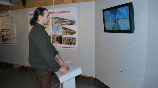 Installation of a 3D visualization in an information kiosk